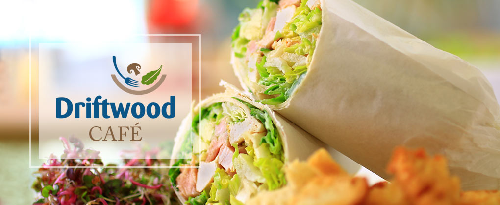 Sandwich Wrap with Driftwood Cafe Logo